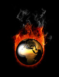 Fire world Royalty Free Stock Image