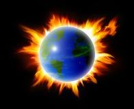 Fire world Stock Image