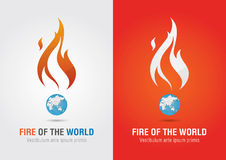 Fire of the world sign icon symbol info graphic. Creative market Royalty Free Stock Photography