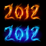 Fire year. Two colors. Illustration on white background for design Royalty Free Stock Photography