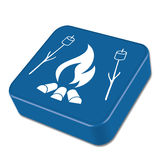 Fire and zephyr icon. Vector illustration Royalty Free Stock Image