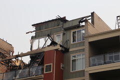 Fire zone on apartment - Insurance files royalty free stock photography