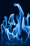 Fire12. Blue soft fire royalty free stock photos