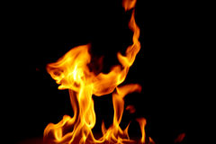 Fire17.jpg. Jumping fire Royalty Free Stock Image