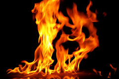 Fire18.jpg. Three fire columns Royalty Free Stock Photos