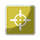 Firearm aim or target  icon image Stock Images