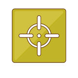 Firearm aim or target  icon image Stock Image