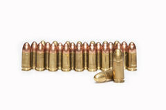 Firearm ammunition. With gunpowder and caps Stock Photo