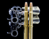 Firearm and bullets for protection Royalty Free Stock Photos