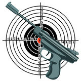 Firearm, the gun against the target. Vector Royalty Free Stock Photo