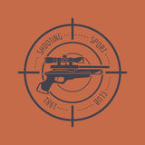 Firearm logo template. Guns, rifles badge. Flat design Stock Photos