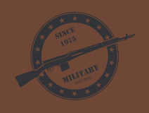 Firearm logo template. Guns, rifles badge. Flat design Stock Photography