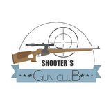 Firearm logo template. Guns, rifles badge. Flat design Royalty Free Stock Photography