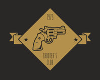 Firearm logo template. Guns, rifles badge. Flat design Stock Image