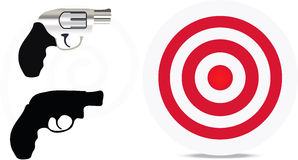 Firearm silhouette Stock Photography