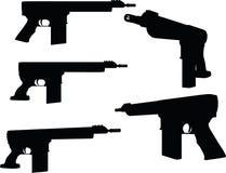 Firearm silhouette Royalty Free Stock Photos