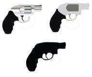 Firearm silhouette Stock Image