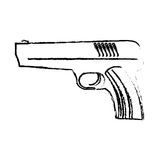 Firearm silhouette of military equipment icon image Stock Image