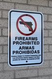 Firearms Prohibited Stock Photos