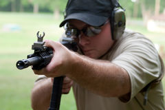 Firearms training Royalty Free Stock Photo