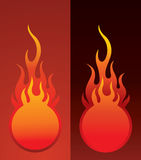 Fireball. Background , element for design, vector illustration Stock Photos
