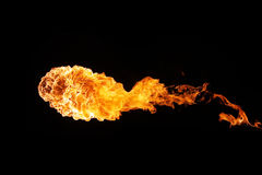 Fireball. Isolated on black background Stock Images