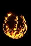 Fireball. On the black background stock photo