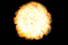 Fireball. CG render. Isolated on black Stock Images