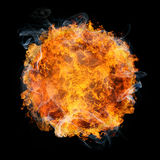 Fireball. Fiery planet on black background Royalty Free Stock Photography