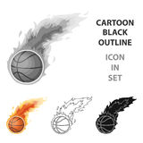 Fireball.Basketball single icon in cartoon style vector symbol stock illustration web. Fireball.Basketball single icon in cartoon style vector symbol stock Royalty Free Stock Photos