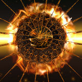 Fireball. A big fireball explodes from the center Royalty Free Stock Image