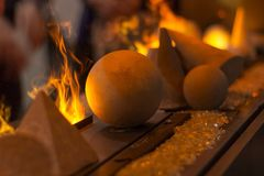 Fireball. A really cool display of fire at ids15 Stock Image