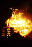 Fireball Erupts. NEVADA, USA - September 1st 2012: A fireball erupts at the Burning Man event shortly after sunset stock photos