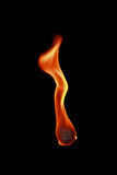 fireball with flame isolated on black Royalty Free Stock Image