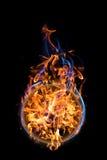 Fireball. Hot fireball on black background Stock Photos
