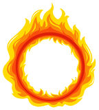 A fireball. Illustration of a fireball on a white background Stock Images