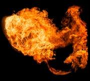 Fireball isolated on a black background Stock Photos