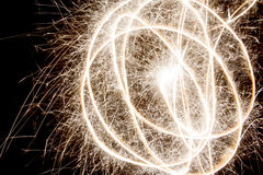 Fireball. Magic fireball with sparks on a dark background Royalty Free Stock Images