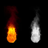Fireball with rising flame Stock Photography