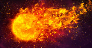 Fireball in space Royalty Free Stock Photo