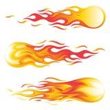 Fireball vector illustration set isolated on white background stock illustration