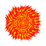 Fireball on a white background. Circle of flame. Vector illustra Royalty Free Stock Images