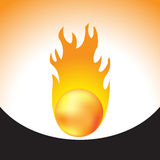 Fireball for your design. Fireball with flame,  illustration Stock Photos