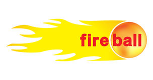 Fireball for your design. Fireball with flame,  illustration Royalty Free Stock Photos