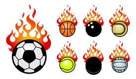 Fireballs sport. A set of vector icons with a sport fireballs Royalty Free Stock Images
