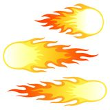 Firebals. Illustration of  different fireballs for your designs Royalty Free Stock Image