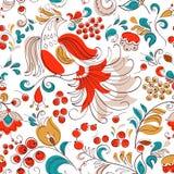 Firebird και σταφίδα στο ρωσικό ύφος φαντασίας Στοκ Φωτογραφία
