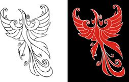 Firebird. Mythical creature from russian tales, element for design, vector illustration Royalty Free Stock Image