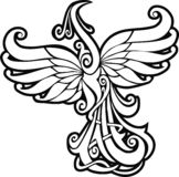 Firebird. Mythical creature from russian tales, element for design, vector illustration Stock Photos
