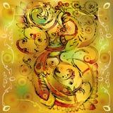 Firebird decorativo con la corona royalty illustrazione gratis